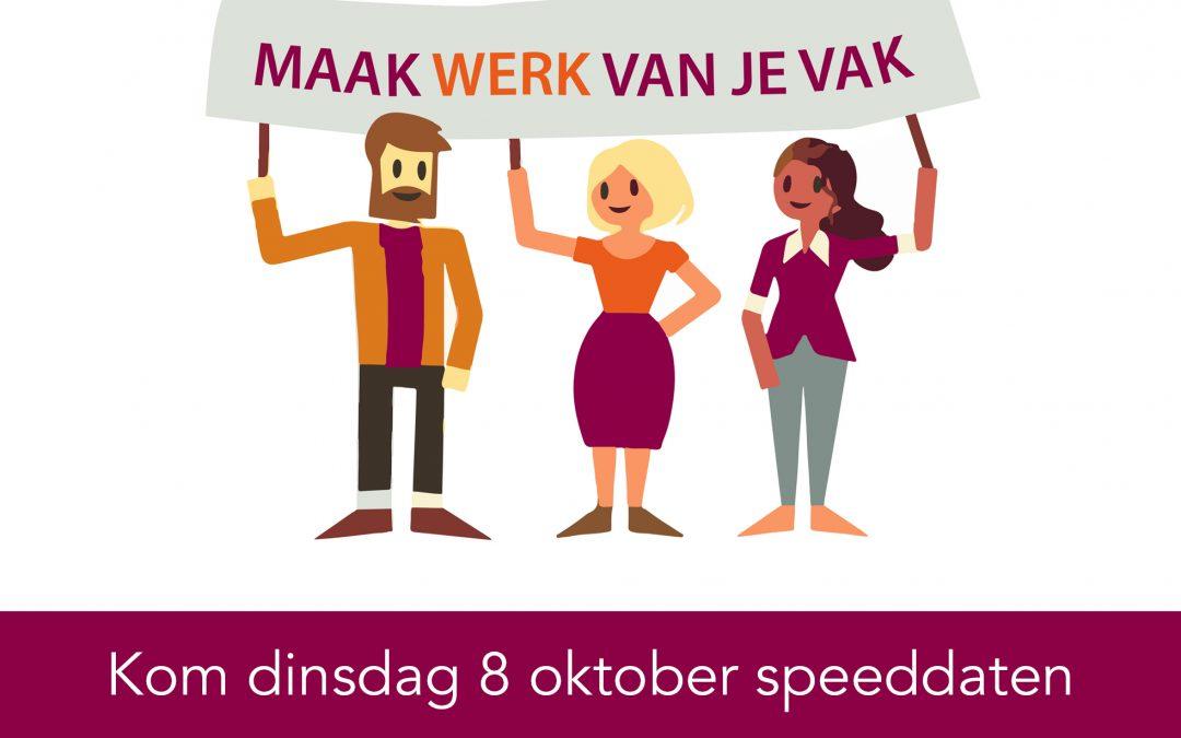 Kom 8 oktober speeddaten bij WerkPro