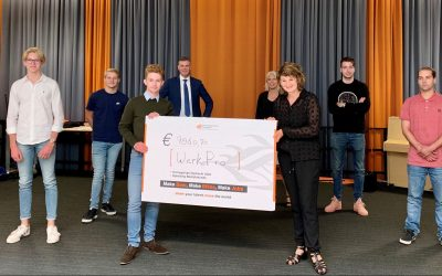 Studenten Bedrijfskunde leren ondernemen met impact en halen ruim 9.000 euro op voor WerkPro